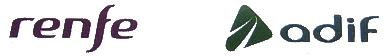 Logo de RENFE y ADIF